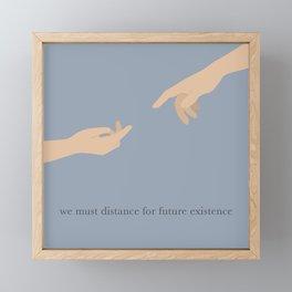 """The Creation of Adam"" Social Distance Illustration Framed Mini Art Print"