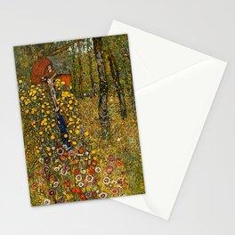 "Gustav Klimt ""Farm Garden with Crucifix "" Stationery Cards"
