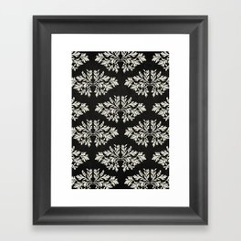 Foliage Black Framed Art Print