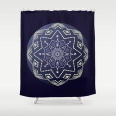Wedgewood Sphere Mandala Shower Curtain