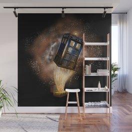 Fantastic Tardis Doctor Who Mashup with Fantastic Bag Wall Mural