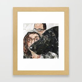 Boo and Family Framed Art Print