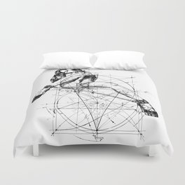 Samael Lilith and the Golden ratio Duvet Cover
