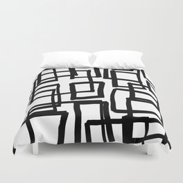 all boxed up Duvet Cover