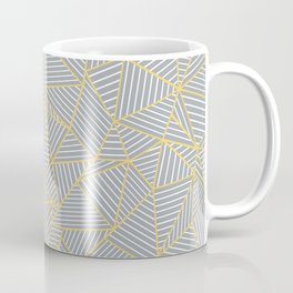 Ab Outline Gold and Grey Coffee Mug
