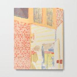 Interior with Pink Wallpaper II Metal Print