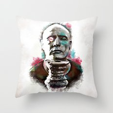 Marlon Brando under brushes effects Throw Pillow