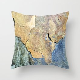 Abstract Stone Throw Pillow