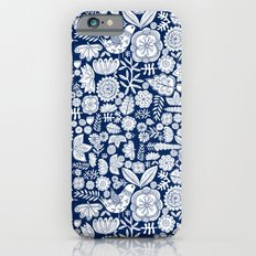 midnight blue garden party Slim Case iPhone 6s