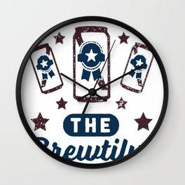 AMERICA THE BREWTIFUL T-SHIRT Wall Clock