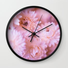 Lovely bouquet of pink flowers Wall Clock
