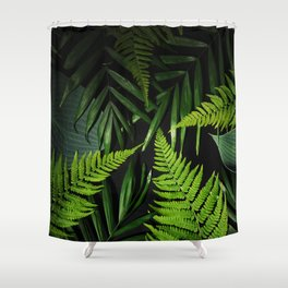 Leaves and branches Shower Curtain