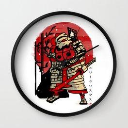 Samurai Santa Wall Clock