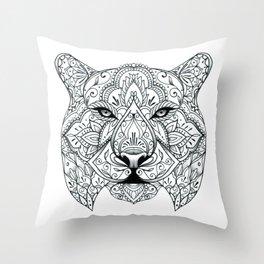 Big Cat Portrait Throw Pillow