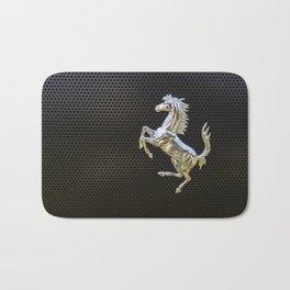 Ferrari chrome emblem  Bath Mat