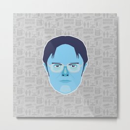 Dwight Schrute - The Office Metal Print