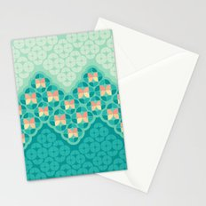Blue Garden Pattern Stationery Cards