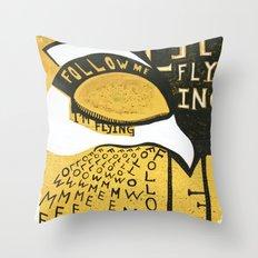 Follow Bird Throw Pillow