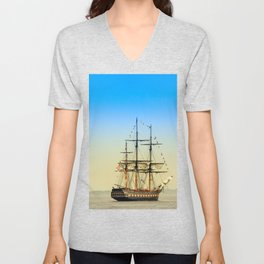 Sail Boston - Oliver Hazard Perry Unisex V-Neck