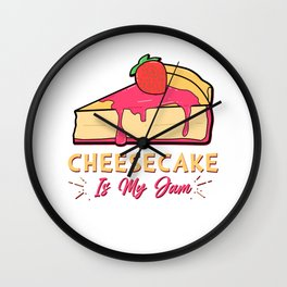 Cheesecake Is My Jam Strawberry Cream Cheese Cracker Pastry Wall Clock