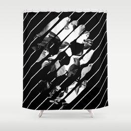 Memory Skull BW Shower Curtain