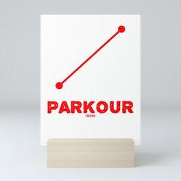 Outdoor fitness Parkour Mini Art Print