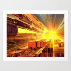 Retro Future Perfect Art Print