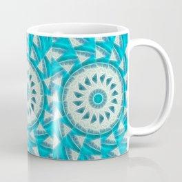 Cyan Glow Kaleidoscope 14 Coffee Mug