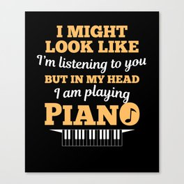 Piano Pianist Clefs Piano Player Gift Canvas Print