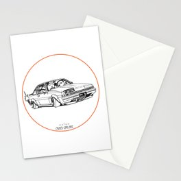 Crazy Car Art 0220 Stationery Cards