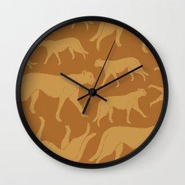 African Cheetah Pattern Wall Clock