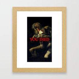 You Died Dark Soul Framed Art Print