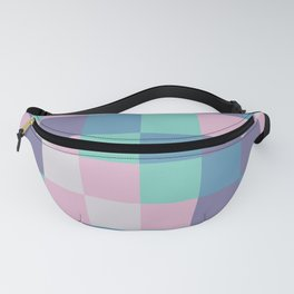 Abstract square pastel geometry Fanny Pack