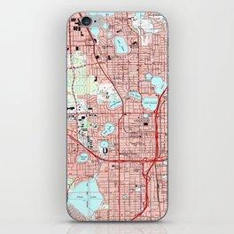 Orlando Florida Map (1995) iPhone Skin