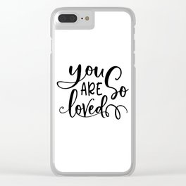 PRINTABLE Art, You Are So Loved, Girls Room Decor,Nursery Decor,Nursery Girls,Kids Gift,Wall Art,Lov Clear iPhone Case