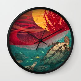 Hawaii Volcanos National Park Wall Clock