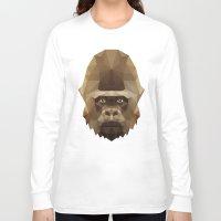 gorilla Long Sleeve T-shirts featuring Gorilla by Taranta Babu