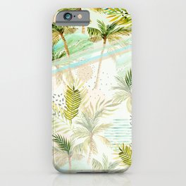 Contemporary Hawaiian Palm Trees and Sunsets iPhone Case