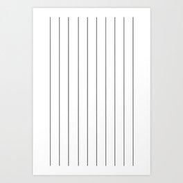The thin line Art Print