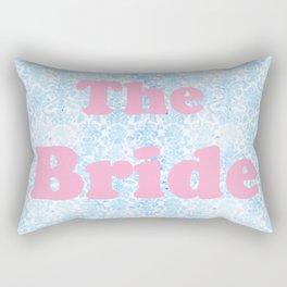 The Bride Pink & Blue Rectangular Pillow