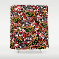 bands Shower Curtains featuring BANDS by DIVIDUS