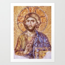 Christ Pantocrator Mosaic Icon Art Print