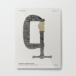 MANIPULATED Metal Print