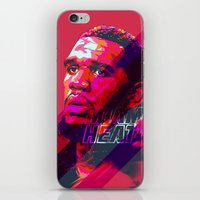 greg guillemin iPhone & iPod Skins featuring GREG ODEN MIAMI HEAT by mergedvisible