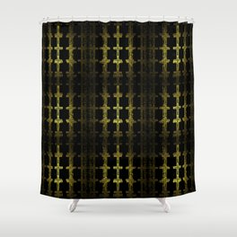 Gold crosses patchwork Shower Curtain