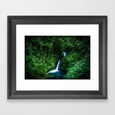 Jungle Waterfall Framed Art Print