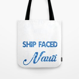 Vacation Cruise Ship Faced Cruising Drinking design Tote Bag