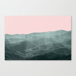 Mountains Pink + Green - Nature Photography Canvas Print