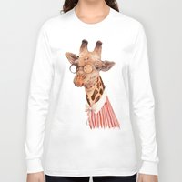 giraffe Long Sleeve T-shirts featuring Giraffe by Animal Crew