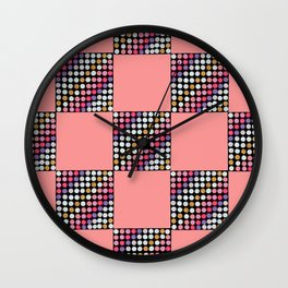 Checker Disco Wall Clock